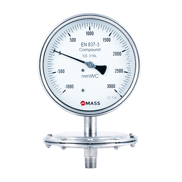 SDS Low Pressure Diaphragm Pressure Gauges