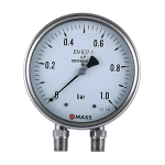 D100, Bellow Type Differential Pressure Gauge
