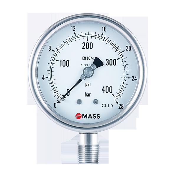 WPS Open Front Process Pressure Gauge
