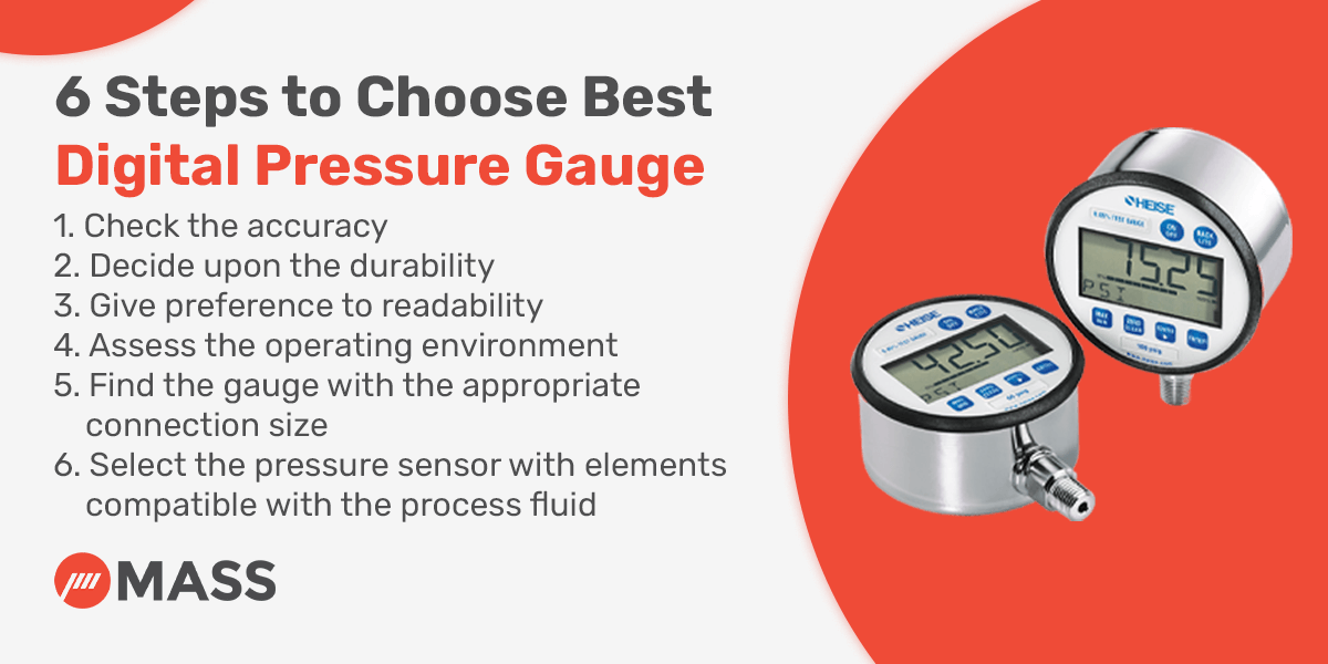 6 Steps to Choose Best Digital Pressure Gauge